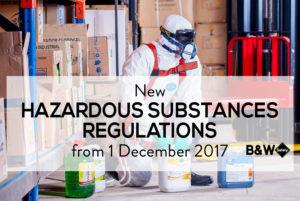 New Hazardous Substances Regulations 2017 | www.bwsafety.co.nz